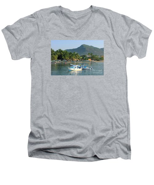 Zihwatanejo Beach Front Men's V-Neck T-Shirt