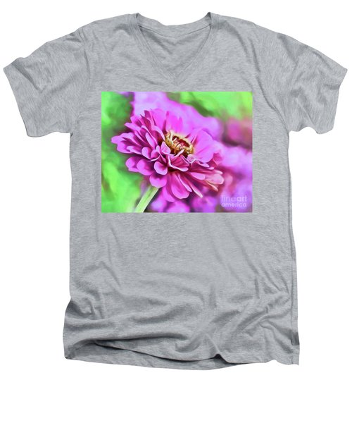 Zinnia Art 2 Men's V-Neck T-Shirt