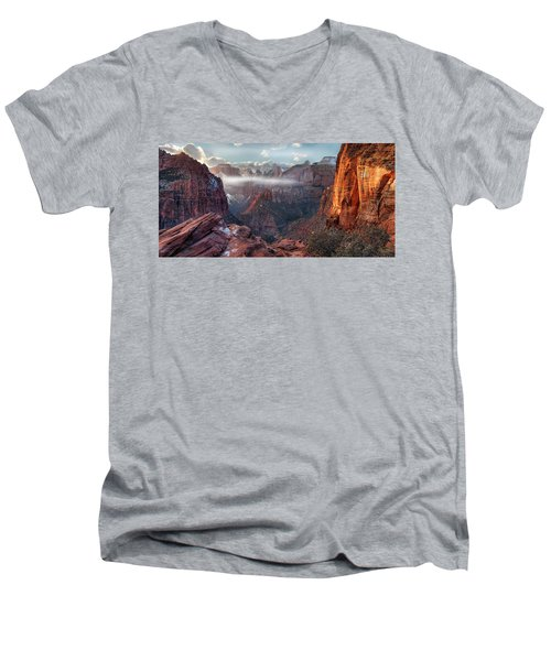 Zion Canyon Grandeur Men's V-Neck T-Shirt