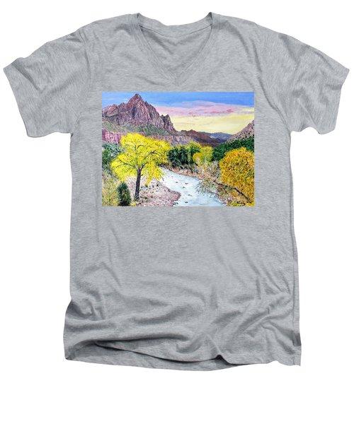 Zion Creek Men's V-Neck T-Shirt