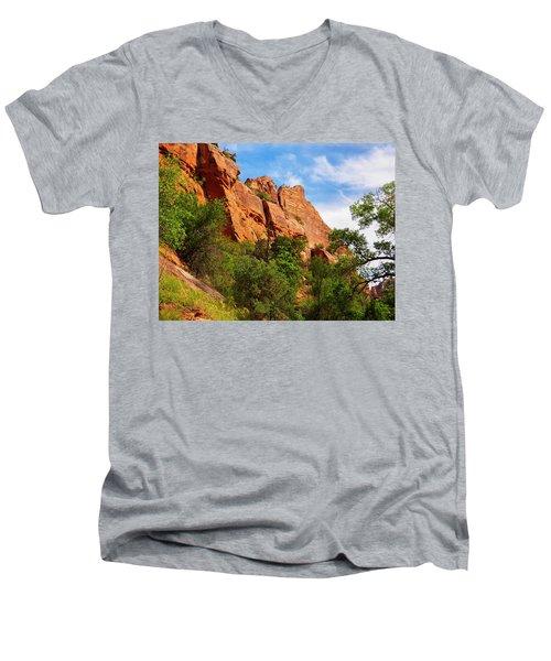 Zion National Park 1 Men's V-Neck T-Shirt