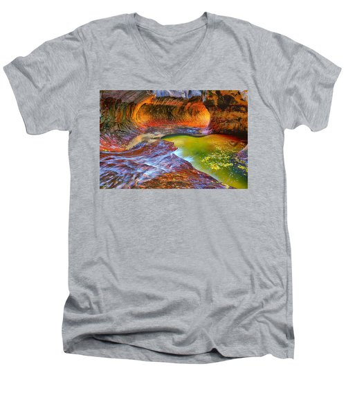 Zion Subway Men's V-Neck T-Shirt by Greg Norrell