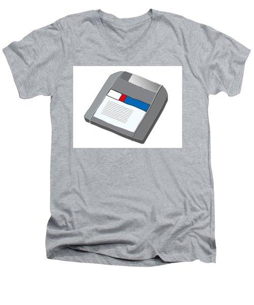 Zip Disk Men's V-Neck T-Shirt