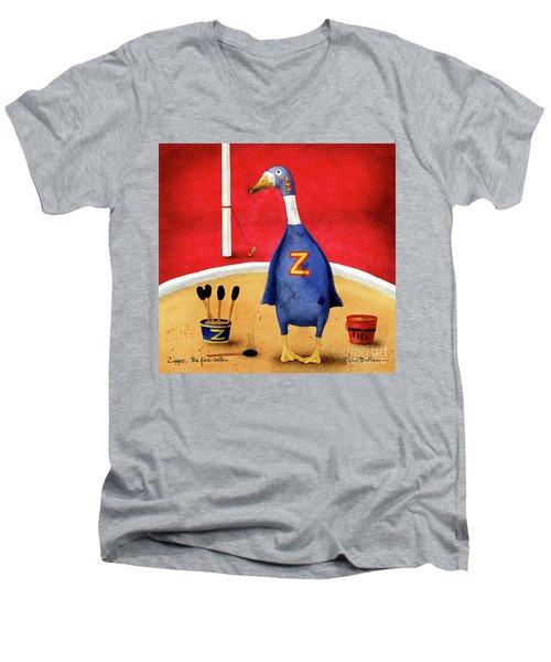 Zippo, The Fire-eater Men's V-Neck T-Shirt