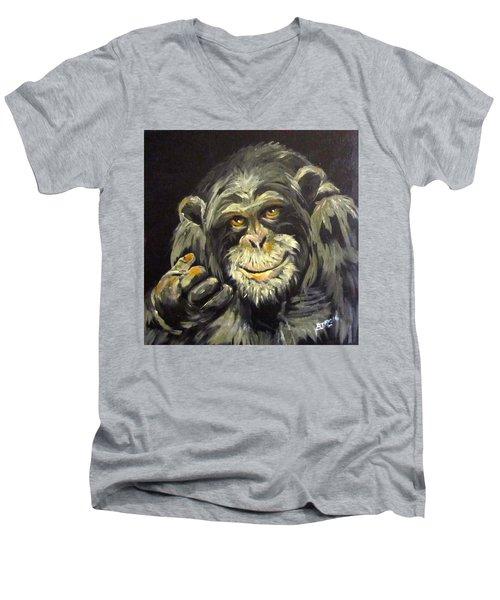 Zippy Men's V-Neck T-Shirt by Barbara O'Toole