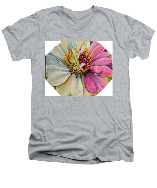 Zippy Zinnia Men's V-Neck T-Shirt