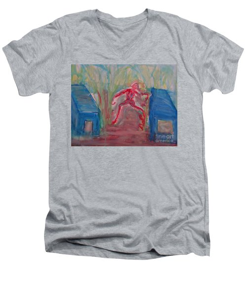 Zombie Men's V-Neck T-Shirt