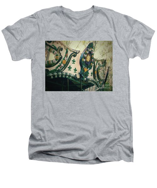 Zoo Carousel Ma Men's V-Neck T-Shirt