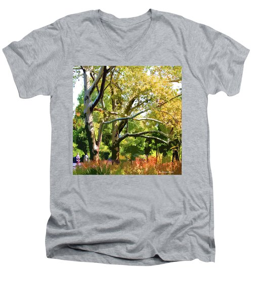 Zoo Trees Men's V-Neck T-Shirt
