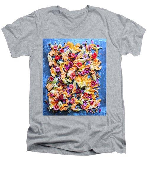 Zucchini Blossoms Season Men's V-Neck T-Shirt