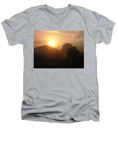 Zuma Rock, Abuja Nigeria Men's V-Neck T-Shirt