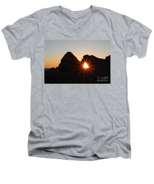 A Moment In Time Men's V-Neck T-Shirt