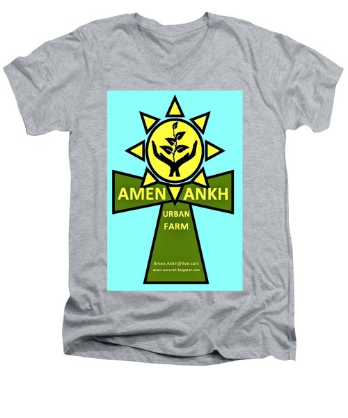 Amen Ankh Men's V-Neck T-Shirt