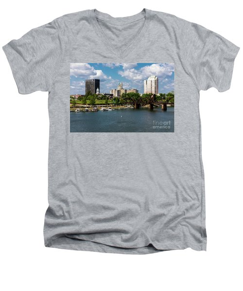 Augusta Ga - Savannah River Men's V-Neck T-Shirt