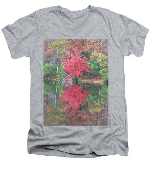 Autumn Pink Men's V-Neck T-Shirt