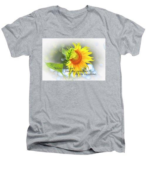 Be The Sunshine Men's V-Neck T-Shirt