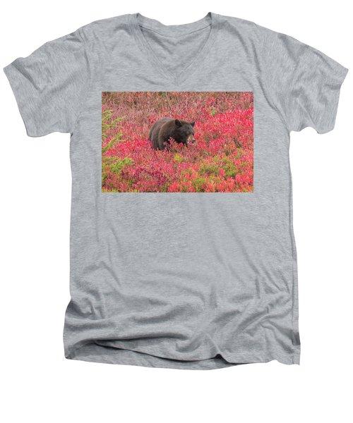 Berries For The Bear Men's V-Neck T-Shirt