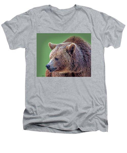 Brown Bear 5 Men's V-Neck T-Shirt