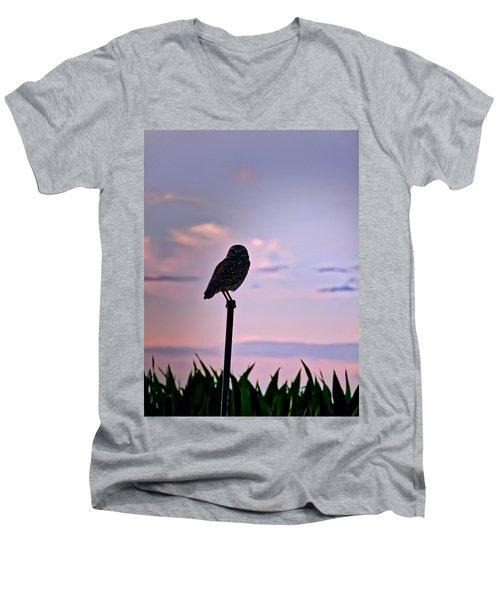 Burrowing Owl On A Stick Men's V-Neck T-Shirt