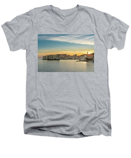 Dubrovnik Old Town At Sunset Men's V-Neck T-Shirt