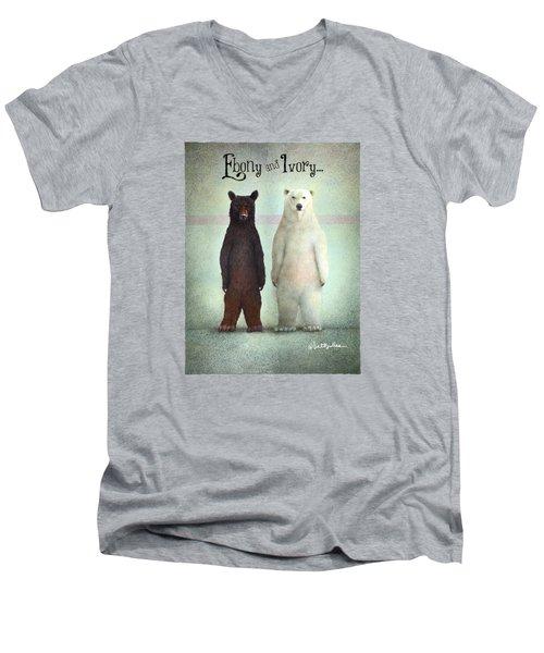 Ebony And Ivory... Men's V-Neck T-Shirt