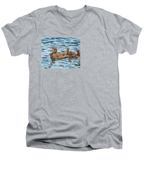 Mallards Men's V-Neck T-Shirt