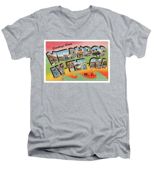 Wildwood Greetings - Version 3 Men's V-Neck T-Shirt