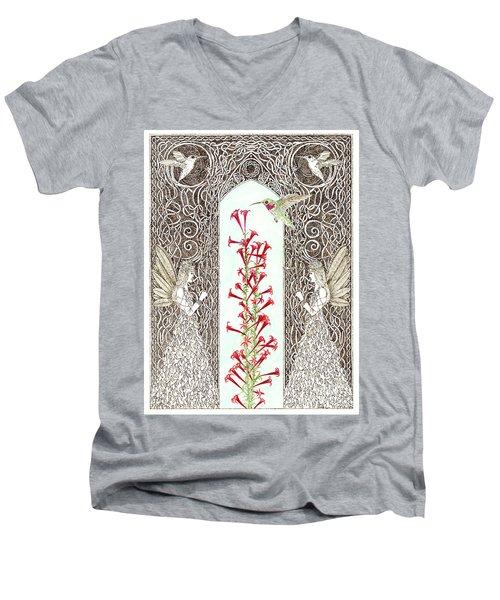 Hummingbird Sanctuary Men's V-Neck T-Shirt