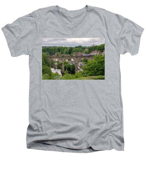 Knaresborough Viaduct  Men's V-Neck T-Shirt