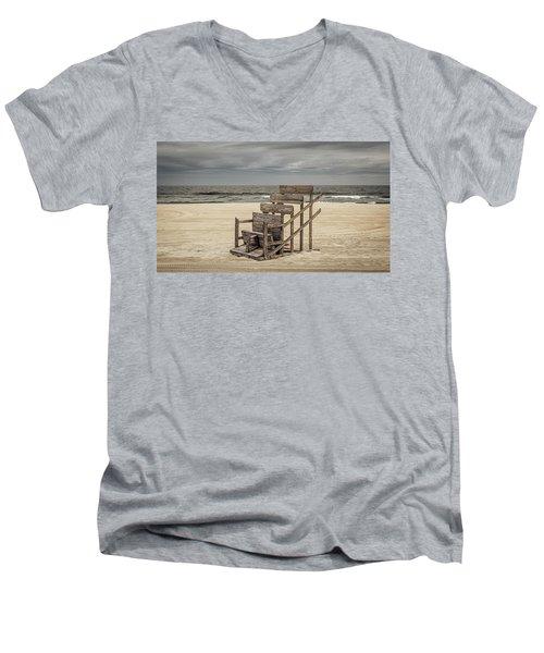 Lifeguard Stand Men's V-Neck T-Shirt
