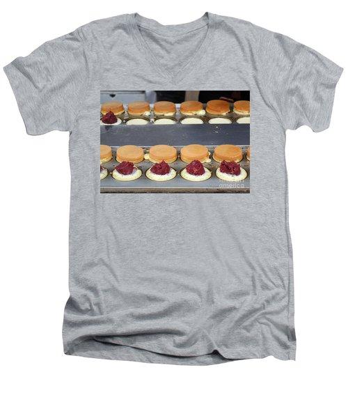 Making Red Bean Cakes Men's V-Neck T-Shirt