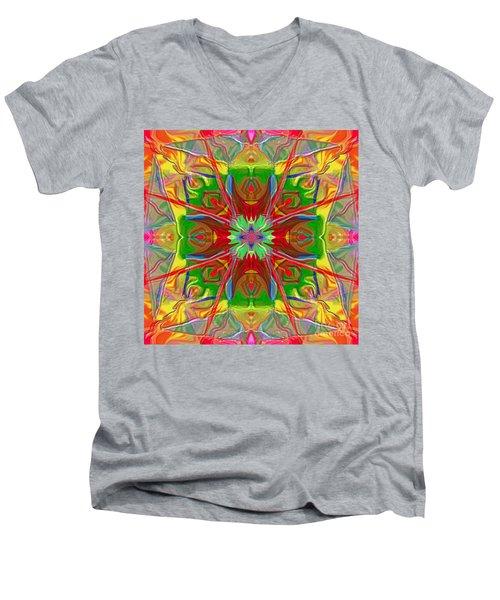 Mandala 12 8 2018 Men's V-Neck T-Shirt