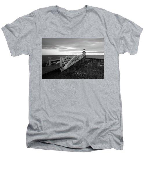 Marshall Point Light Men's V-Neck T-Shirt