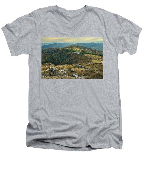 Monastery Agion Anargiron Above Argos Men's V-Neck T-Shirt