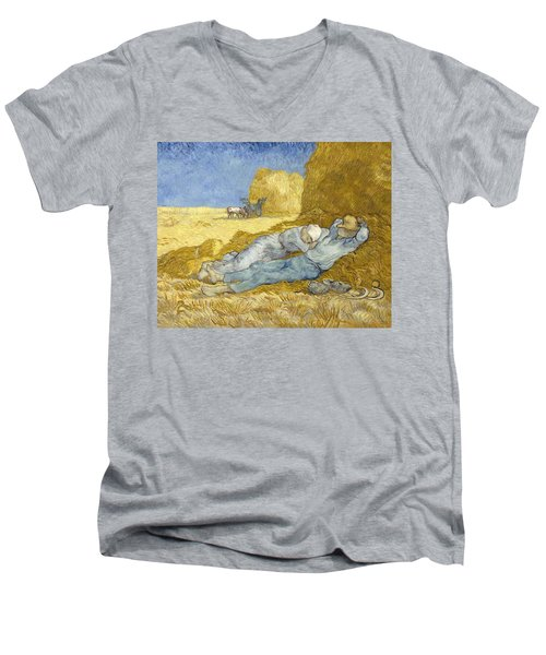 Noon - Rest From Work Men's V-Neck T-Shirt