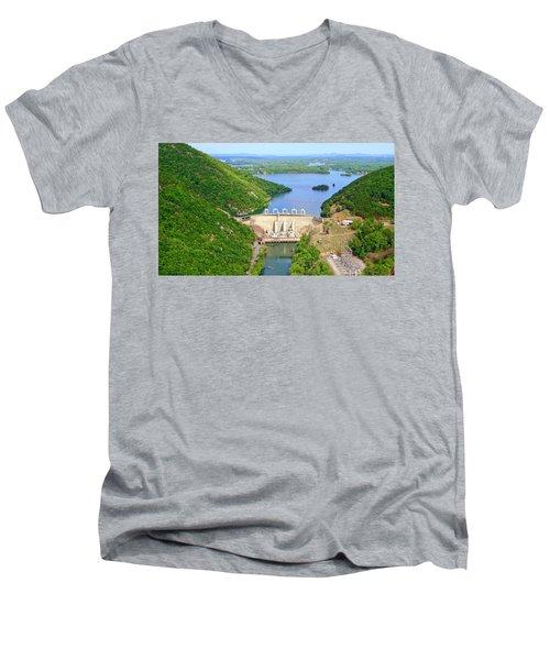 Smith Mountain Lake Dam Men's V-Neck T-Shirt
