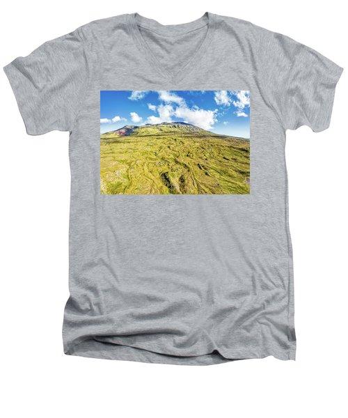 Snowcapped Volcano II Men's V-Neck T-Shirt