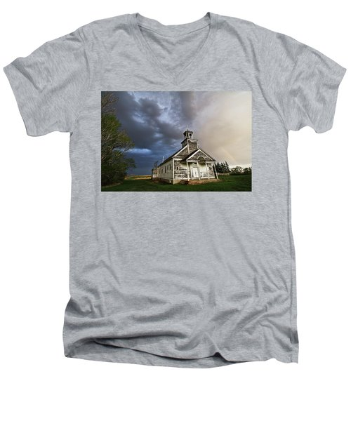 Stormy Sk Church Men's V-Neck T-Shirt