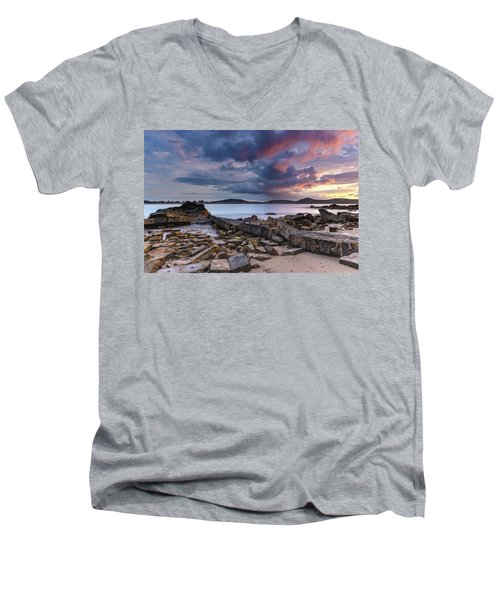 Stormy Sunrise Seascape Men's V-Neck T-Shirt