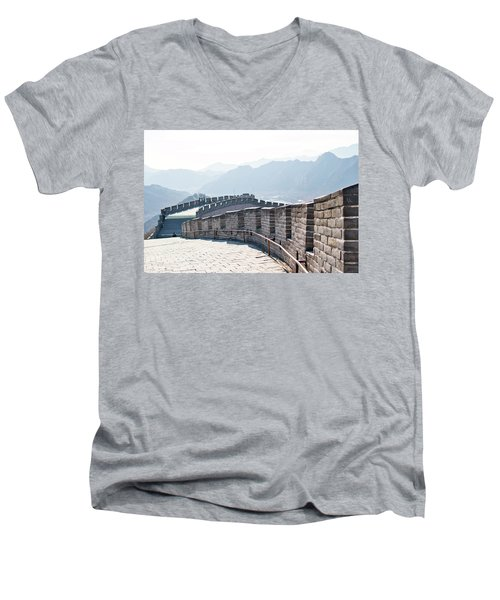 The Great Wall Of China Men's V-Neck T-Shirt