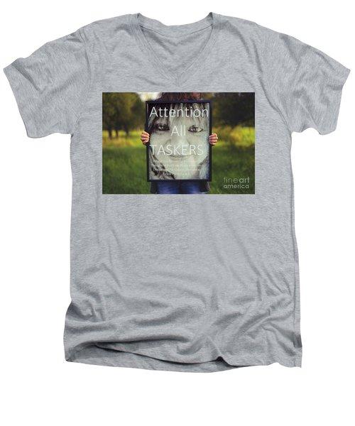Thebroadcastmonkey Men's V-Neck T-Shirt