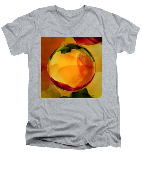 Watercolor Glass Marble  Men's V-Neck T-Shirt
