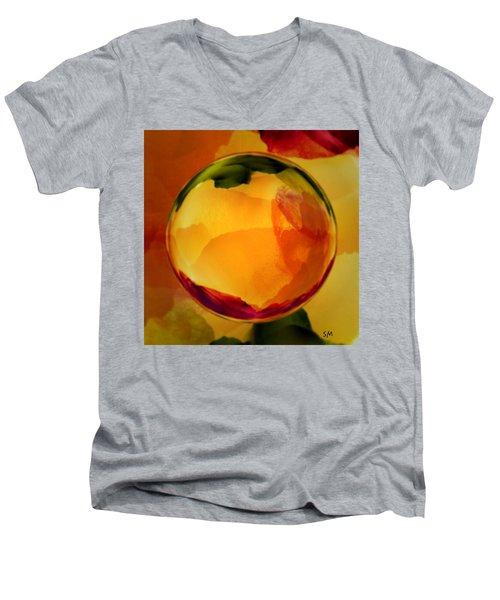 Watercolor Glass Marble  Men's V-Neck T-Shirt