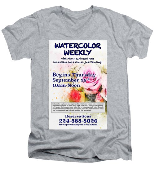 Watercolor Weekly Men's V-Neck T-Shirt