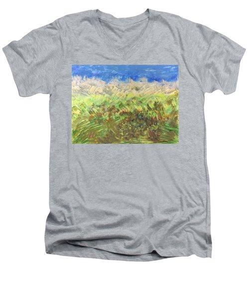 Windy Fields Men's V-Neck T-Shirt