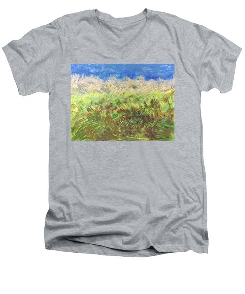 Windy Fields Men's V-Neck T-Shirt