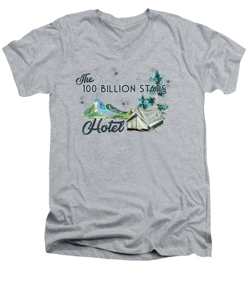 100 Billion Stars Hotel Men's V-Neck T-Shirt