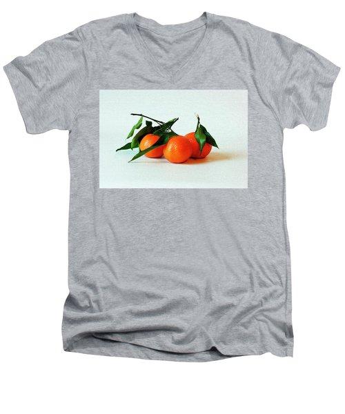 11--01-13 Studio. 3 Clementines Men's V-Neck T-Shirt