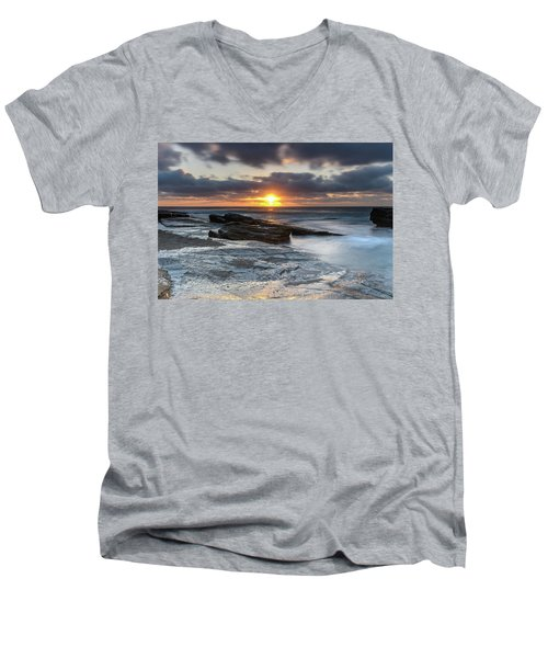 A Moody Sunrise Seascape Men's V-Neck T-Shirt