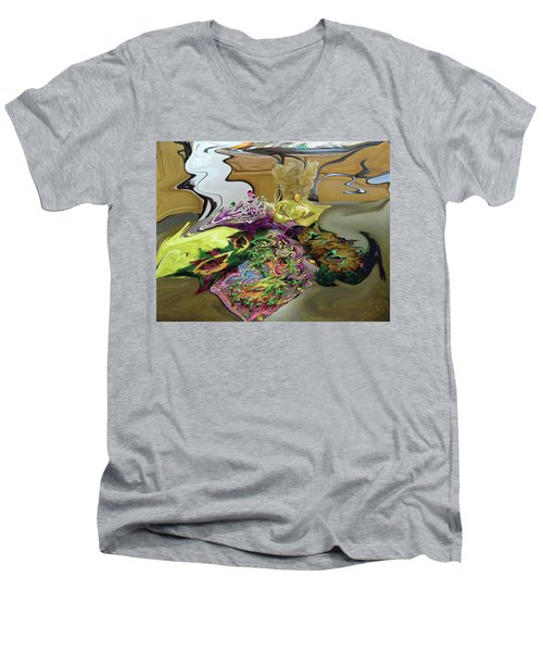 121618 Mardi Gra Morning Men's V-Neck T-Shirt